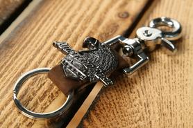 Zawieszka do kluczy brąz z orłem