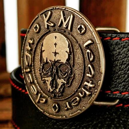 Pas skórzany KM leather design (2)