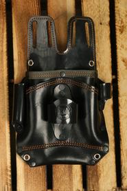 Kabura monterska skóra czarna