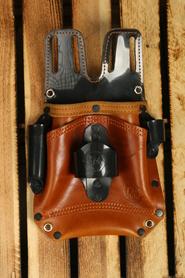 Pakiet 10szt Kabura monterska skóra brązowa