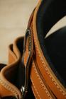 Kabura monterska + szeroki pas  jasny brąz (2)